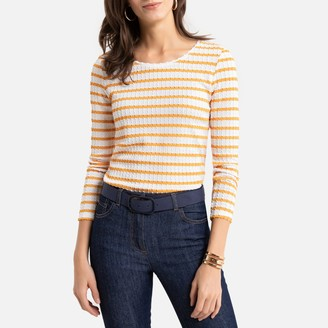 Anne Weyburn Striped Long-Sleeved T-Shirt