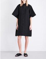 Issey Miyake Coffee Beans woven shirt dress