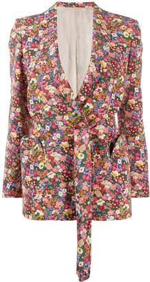 BLAZÉ MILANO Floral Print Silk Blazer