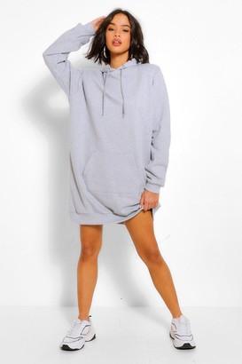 boohoo Shoulder Pad Oversized Sweater Dress