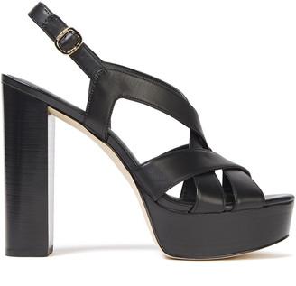 MICHAEL Michael Kors Leather Platform Slingback Sandals