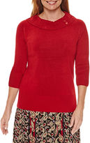 Sag Harbor Heritage Separates 3/4 Sleeve Sweater