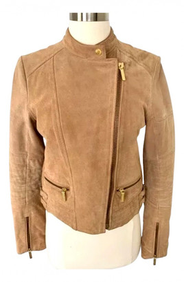 Michael Kors Camel Suede Leather jackets