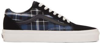 Vans Black and Navy Check Old Skool Sneakers
