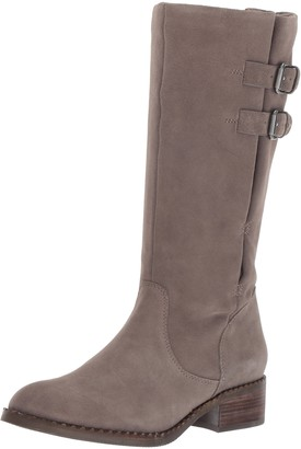 Gentle Souls by Kenneth Cole Women's Brian Mid-Calf Boot with Buckle Detail Angled Topline Suede Harness