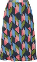 Yumi Geo Pleated Skirt