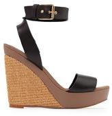 MANGO Woven wedge sandals