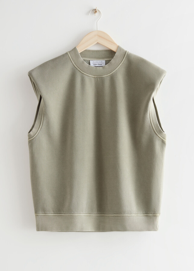 Thumbnail for your product : And other stories Relaxed Padded Shoulder Top
