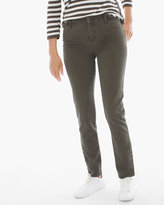 Chico's Button-Hem Girlfriend Ankle Jeans