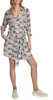 Thumbnail for your product : Reiss Alice Abstract Print Long Sleeve Dress