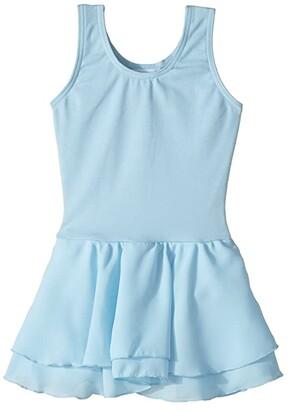 Capezio Classic Double Layer Skirt Tank Dress (Toddler/Little Kids/Big Kids) (Light Blue) Girl's Dress