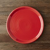 Crate & Barrel Farmhouse Red Dinner Plate