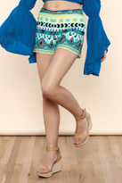 Hale Bob Lillian Embroidered Shorts