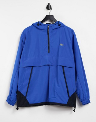 Lacoste unisex live water-resistant pullover windbreaker