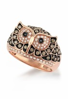 Effy Jewelry Jardin Critters Rose Gold Diamond Owl Ring, .72 TCW