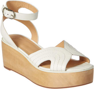Joie Gabourey Leather Wedge Sandal