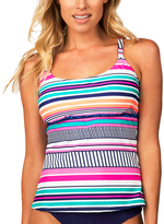 Leilani Navy Secret Beach Cami Tankini Top
