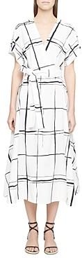 3.1 Phillip Lim Windowpane Crossover Dress