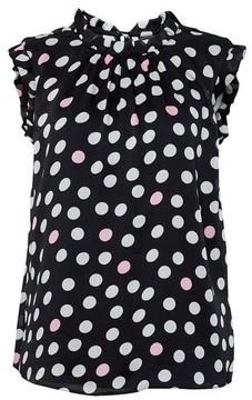 Dorothy Perkins Womens Billie & Blossom Black Mono Spot Print Shell Top, Black