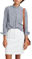 J.Crew Gingham Club Collar Boy Shirt (Regular & Petite)