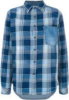 Current/Elliott plaid and denim shirt