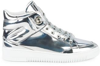 Roberto Cavalli Firenze Metallic High-Top Sneakers