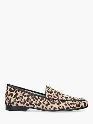 Sam Edelman Loraine Leather Leopard Moccasins, Natural