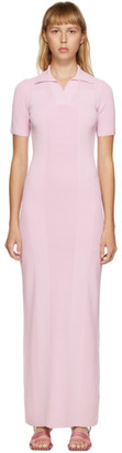 Jacquemus Pink La Robe Maille Polo Dress