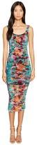 Fuzzi Fitted Sexy Flower Print Dress Women's Dress