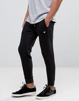Armani Jeans Sweatpants In Slim Fit Waffle Jersey