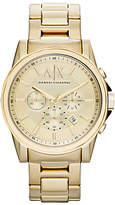 Armani Exchange Ax2099 Chronograph Bracelet Strap Watch, Gold