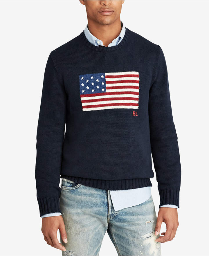 Cotton Flag Sweater Men Bigamp; Tall 5j43RLA