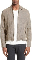 Our Legacy Men's Houndstooth Linen Zip Front Jacket