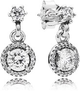 Pandora Earrings - Sterling Silver & Cubic Zirconia Classic Elegance