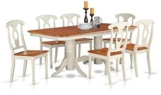 August Grove Pillsbury 7 Piece Dining Set with Rectangular Table Top August Grove