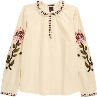 Scotch R'Belle Kids' Boho Embroidered Top
