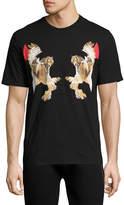 Neil Barrett Mirrored Owl-Print T-Shirt, Black