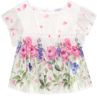 MonnaLisa Floral cotton top