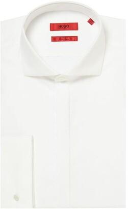 HUGO Katthew Slim Double Cuff Cutaway Collar Shirt