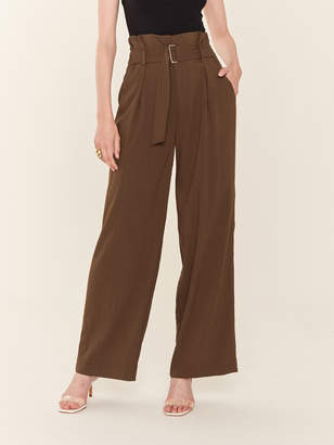 J.o.a. Woven Trousers with Attached Belt