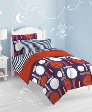 Dream Factory All Sports 5-Pc. Twin Bed-in-a-Bag Bedding