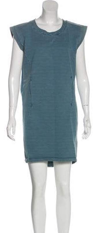 Maison Margiela Sleeveless Mini Dress blue Sleeveless Mini Dress