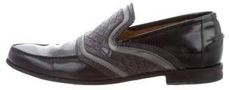 Gucci Alligator & Leather Loafers