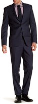 Simon Spurr Blue Woven Two Button Notch Lapel Wool Regular Fit Suit