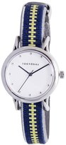 Tokyobay Tokyo Bay T623-NV Women's Stainless Steel Multi-Color Nylon Band White Dial Watch