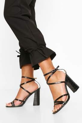 boohoo Strappy Block Heel Sandals