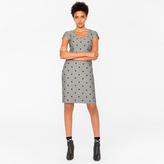 Paul Smith Women's Herringbone Dress With Flocked Polka Dots