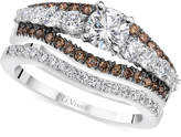 LeVian Le Vian Chocolatier Diamond Bridal Set (1-5/8 ct. t.w.) in 14k White Gold