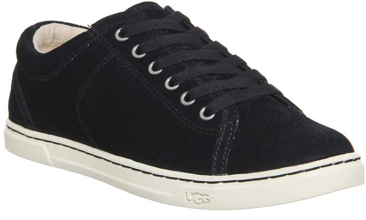 f0bc5180455 Tomi Lace Up Trainers Black Suede
