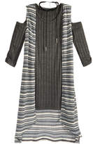 Sequin Hearts 2-Pc. Cold-Shoulder Dress and Duster Vest Set With Coordinating Necklace, Big Girls (7-16)